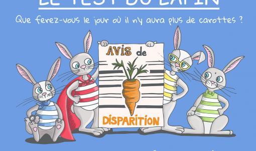 🥕🥕 🥕 Lundi de Pâques, allocution d'Emmanuel Macron : le test du lapin 🐰, un livre qui vous dit quel type de lapin vous êtes et qui vous interroge sur ce que vous ferez le jour où il n'y aura plus de carottes ?