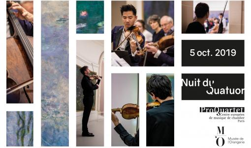 ProQuartet dévoile la programmation de la Nuit du Quatuor au Musée de l'Orangerie