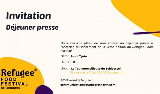 Invitation Déjeuner Refugee Food Festival