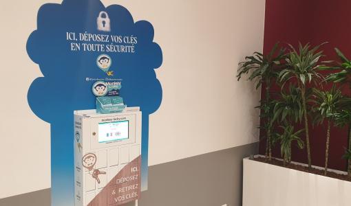 Une première à Nantes: une consigne intelligente pour les clés au centre commercial Beaulieu